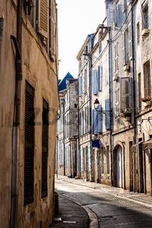 Narrow street in the historic centre of La Rochelle
