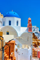 Greek church with blue dome