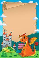 Dragon holding cake theme parchment 2