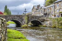 Beddgelert / Wales - May 03 2018 : Looking over the River Colwyn in the heart of Snowdonia National Park