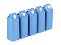 Row of milk containers