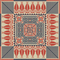Palestinian embroidery pattern 36