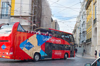 Touristic sightseeing bus in Lisbon