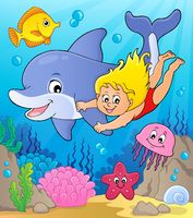 Girl and dolphin image 2