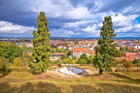 Bamberg. Scenic town of Bamberg rooftops view from Michaelsberg hill