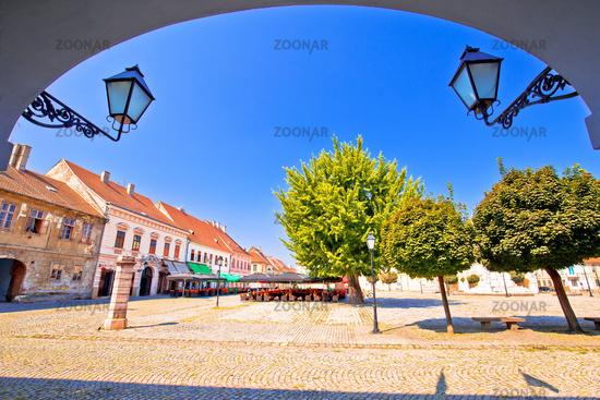 City of Osijek historic Tvrda town square view