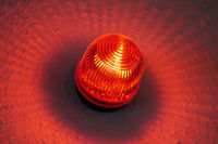 red light lamp known as wigwag wig-wag or red-eye