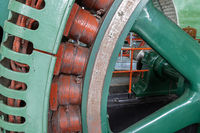 Historic generator in an old power plant