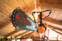 Soviet made chainsaw blade with USSR or CCCP and red star sign