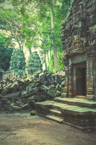 Ruins of ancient temple in the Angkor