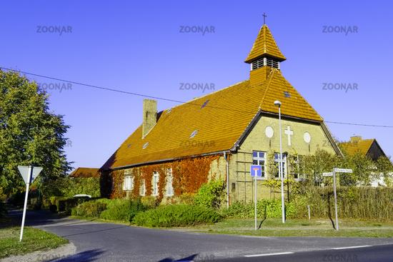 School and prayer house Ahrensdorf, Brandenburg, Germany
