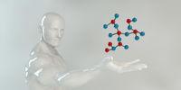 Man Holding Molecule