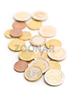 Euro money. Euro coins.
