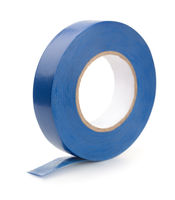 Roll of blue plastic duct tape
