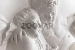 Statue of cherubs (putti).