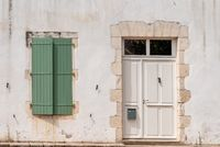 Door and window in traditional old house