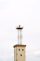 Watchtower with floodlight
