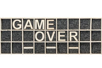 Wooden letters game over