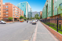 Bogota city office and residential buildings in the Salitre district