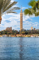 The Cairo Tower and the Nile view, Egypt