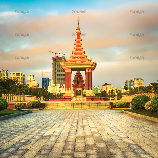 The Independence Monument in Phnom Penh, Cambodia
