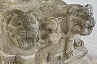 Base Of Statue Of A Pair Of Lions Neo-Hittite Ankara Turkey
