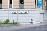 In front of the Karstadt department store