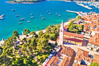 Town of Novigrad Istarski historic center architecture and sailing coastline view