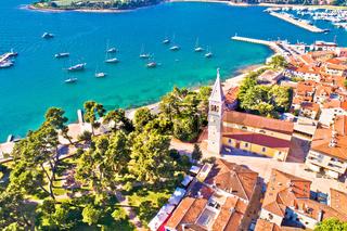 Town of Novigrad Istarski historic center architecture and sailing coastline view