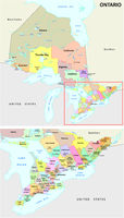 ontario administrative and political map