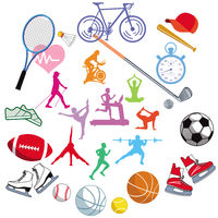 Sport Design Icon Set Vector Illustration