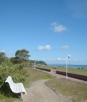 at Promenade of Baabe on Ruegen,baltic Sea,Mecklenburg western Pomerania,Germany