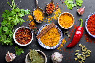 Indian food cooking background