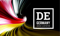 Germany flag in the form of a spiral pipe. Inside view. Vector illustration