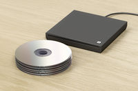 Stack of optical discs and optical drive