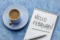 Hello Februrary, handwriting