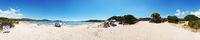 360 Degree Panorama on the Beach of Rondinara - Corsica