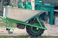 electrify powered motorized garden wheelbarrow