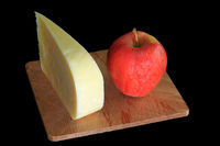 Wedge Smocked Gouda Cheese and Organic Apple