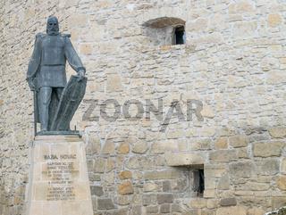 Baba Novac statue in Cluj-Napoca, Romania