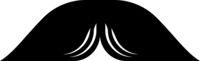Pyramid Moustache Icon Vector