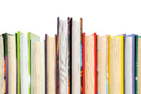 Several books arranged in rows