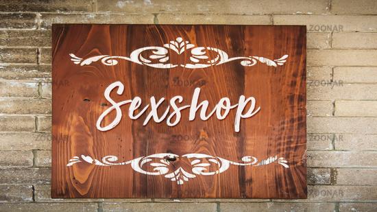 Street Sign to Sexshop