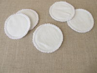 Self-made, self sewn, reusable, washable cotton pads - makeup removal pads for facial cleansing