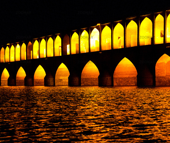 in iran   the old bridge