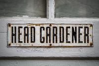 Head Gardener Sign