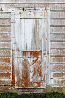 Vintage door built in 1850s at the old dairy ranch of  Pierce Point Ranch.