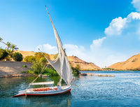 Beautiful Nile in Aswan