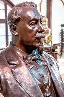 Bust of Alexandre Le Grand, the founder of the liqueur distillery Bénédictine S.A.