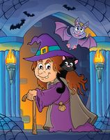 Witch with cat topic image 3
